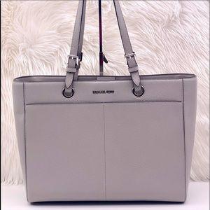 Michael Kors Large Commuter Tote Bag Pearl Grey